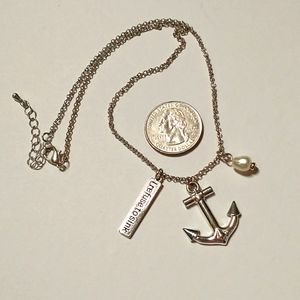 """Anchor """" I refuse to sink necklace"""""""